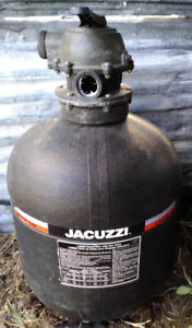 Jacuzzi sand filter for swimming pool or tub
