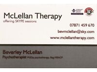 Online psychotherapy counselling. Professional counsellor, Confidential Therapist.