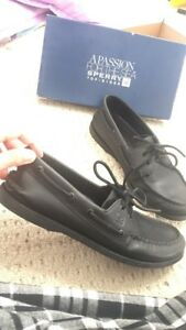 Never worn outside Black Sperry's size 9.5 (cheap)