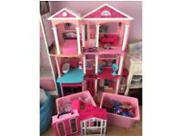 Barbie dream house with other bits