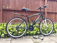Adults commuting mountain bike like new condition all working with accessories