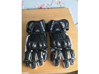 Berik G-8087 Race Gloves Black White Black motorcycle gloves