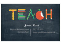 Maths, Physics and Chemistry Tutor - National 5 and Highers