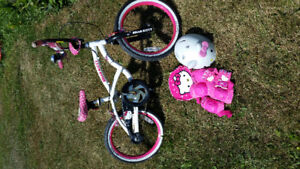 """16"""" Hello Kitty bike with extras"""