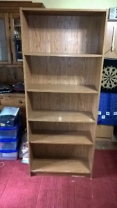 "book shelf, 6' high by 30"" wide"