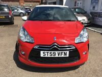 CITREON DS3DSTYLE IN RED LOW MILEAGE & SERVICE HISTORY LONG MOT 6 MONTHS TAX 3 MONTHS WARRANTY