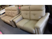 Cream / Beige. LEATHER Settees, Sofa, Suite. Local Delivery......