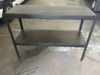 4x. Metal framed benches