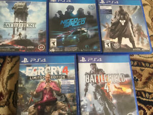 5 GAMES FOR SALE!!!! PS4