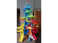 Fisher Price Little People Vehicle Spiral Ramps and car
