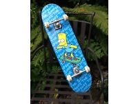 Bart Simpson design skateboard