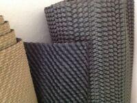 Carpet underlay - black rubber - new