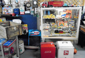 Metal Signs, Tin Toys, Redline Hot wheels, and More