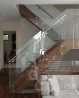 Glass Railings: Interior and Exterior
