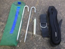 Awnings /Tent Storm Securing Tie Down Kit Tape & Peg