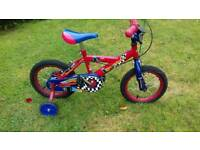 """Street Racer First bike with stabilizers. 14"""" wheels"""