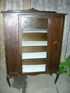 Antique CABINET China Cabinet Display Cabinet
