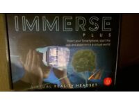 immerse vr headset, brilliant graphics once dowloaded app