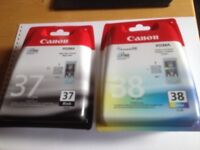 Canon Ink No's 37 & 38