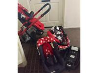 Cossatto complete baby system inc baby seat