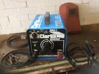Clarke 180 welding machine, complete with all cables, mask and welding gloves.