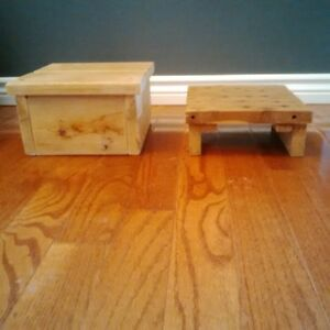 Wooden Step Stools for chair or floor
