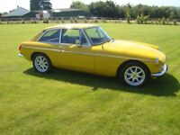 1979 MGB GT in Inca Yellow. Complete restoration completed 2017