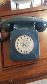 Original Concord Blue GPO 1960'S Dial Up Telephone