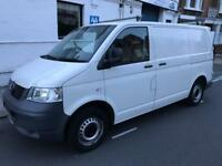 White VW Transporter T5 Full Service History, Last Serviced in March 2017. No VAT