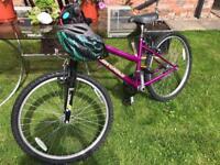 Ladies/girls purple mountain bike