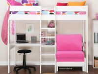 Stompa Uno 5 Highbed with futon