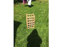 Ikea wooden wine rack