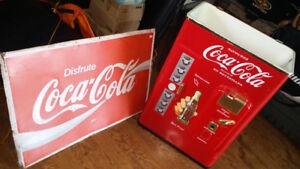 Glassiere et pancarte coke du Mexique 150 $ pour l'ensemble La p