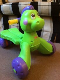 Fisher Price 2 in 1 walker and ride on toy dinosaur
