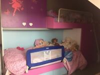 Children Bedroom Frame - Bulk Bed Frame with Cupboards