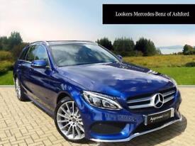 Mercedes-Benz C Class C 220 D AMG LINE PREMIUM (blue) 2017-07-28