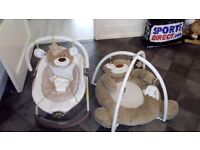 Baby bouncer and play gym matching