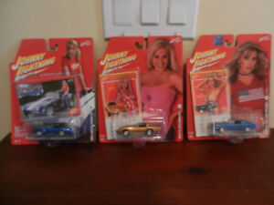 Johnny Lightning Calendar Girl Cars 78 Vette, Cobra 427,65 Must.