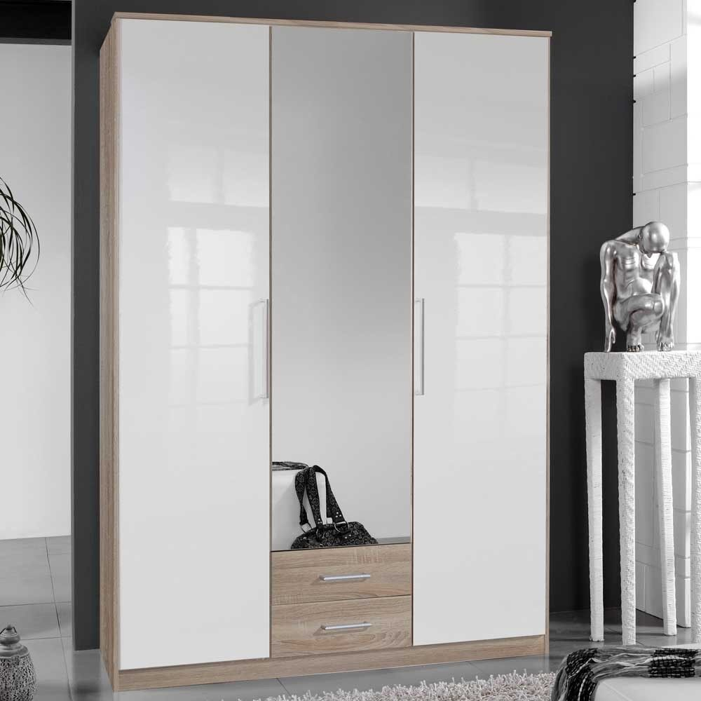 mirror wardrobe. three door moreno hi-gloss mirror wardrobe s