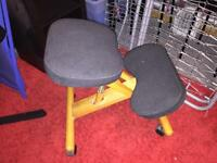 Fabric stool good for posture and back issues