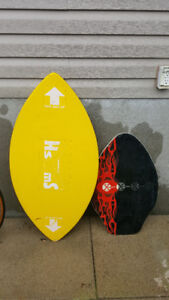 2 skim boards