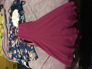 Rompers and Dresses of various sizes and prices