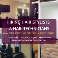 HIRING HAIR STYLIST & HAIR EXTENSIONIST