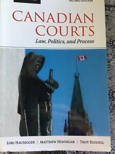 Canadian courts law, politics and process
