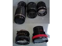 job lot of camera lens