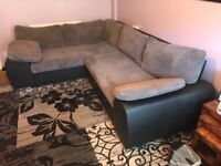 L shaped sofa bed and storage