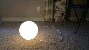 Ikea Round table and desk lamps