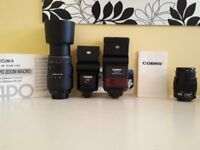 Various Lenses & Flashes