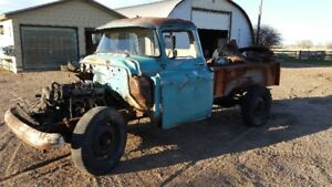 57 CHEVY TRUCK, SMALL WINDOW, long box, or trades