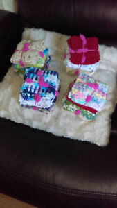 for sale  hand made knitted and crochet dishcloths